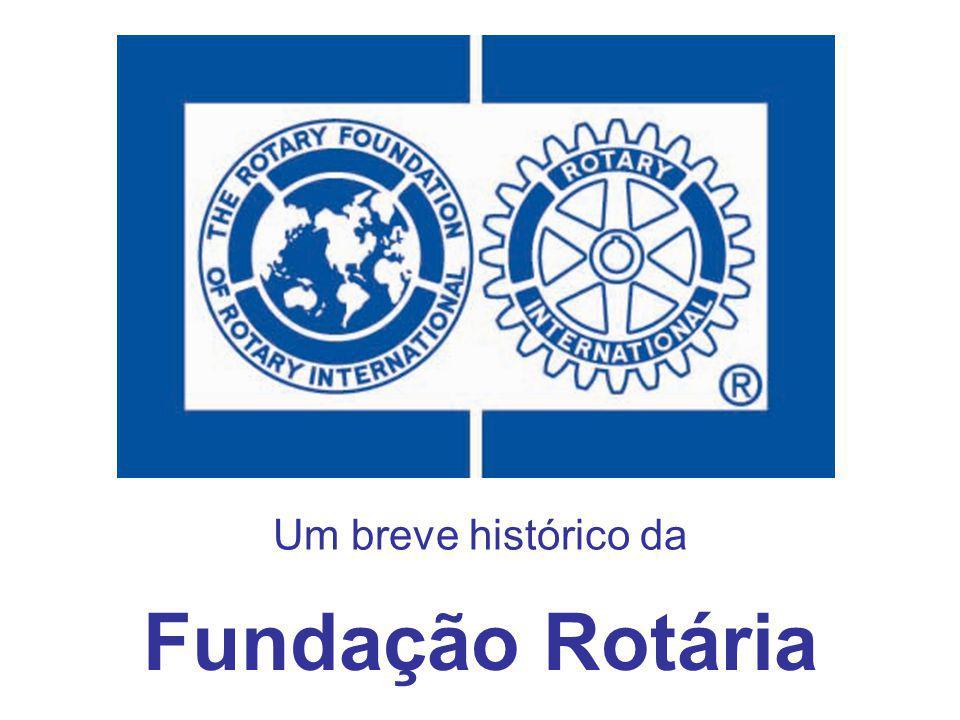 CRIAÇÃO: Em 1917, pelo sexto presidente do Rotary International, Arch C.