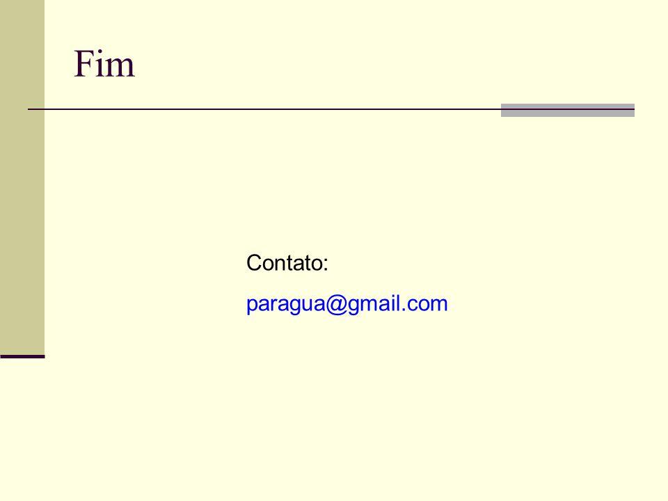 Fim Contato: paragua@gmail.com