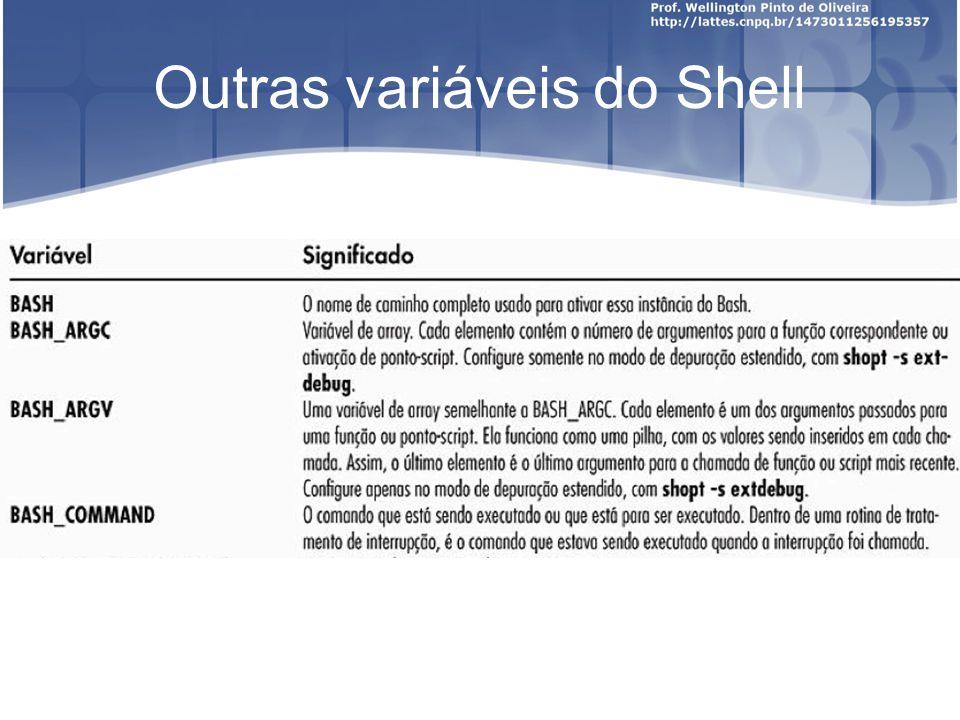Outras variáveis do Shell