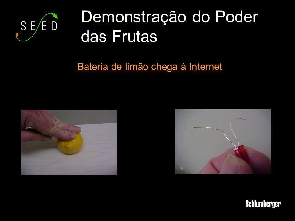 Demonstração do Poder das Frutas Bateria de limão chega à Internet