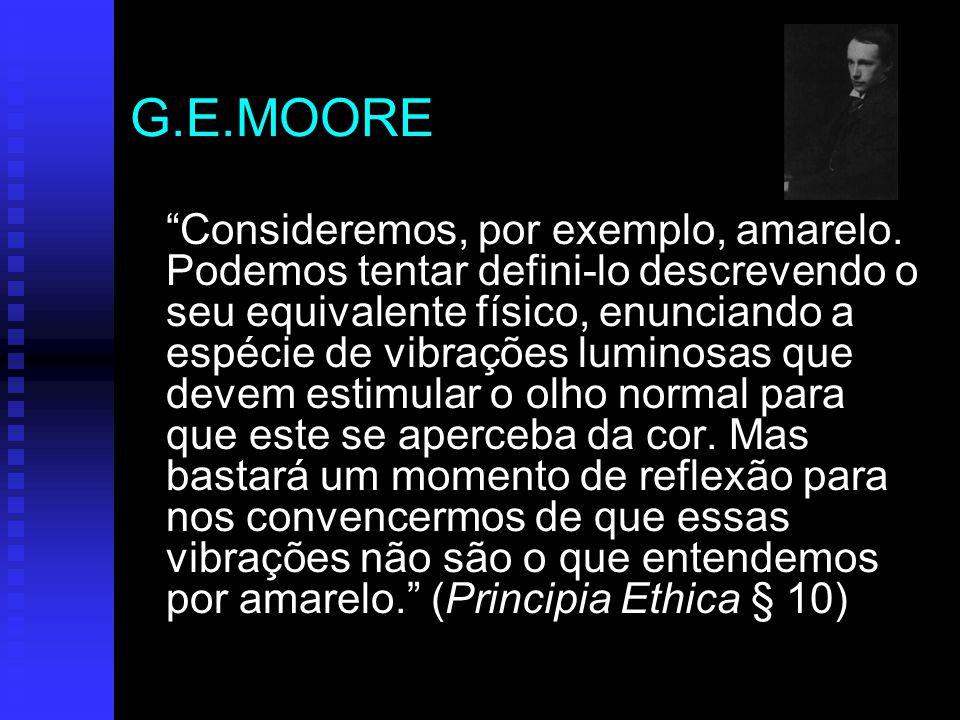 G.E.MOORE Consideremos, por exemplo, amarelo.