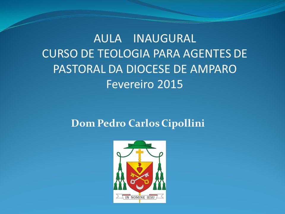 Dom Pedro Carlos Cipollini AULA INAUGURAL CURSO DE TEOLOGIA PARA AGENTES DE PASTORAL DA DIOCESE DE AMPARO Fevereiro 2015