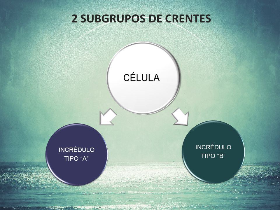 """2 SUBGRUPOS DE CRENTES INCRÉDULO TIPO """"A"""" INCRÉDULO TIPO """"B"""""""