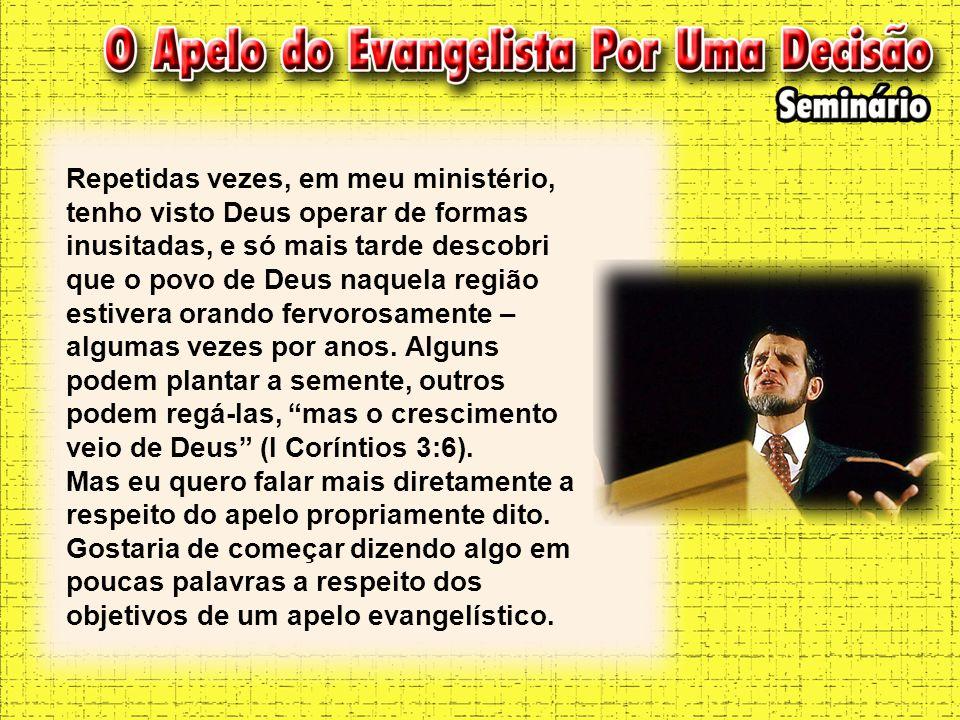 Repetidas vezes, em meu ministério, tenho visto Deus operar de formas inusitadas, e só mais tarde descobri que o povo de Deus naquela região estivera