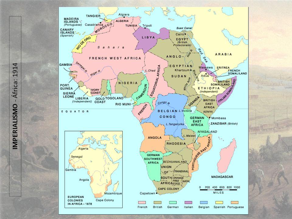 IMPERIALISMO - África: 1914