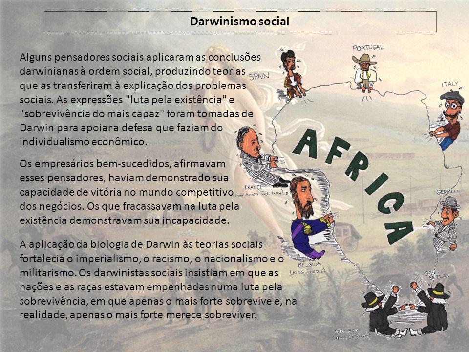 Alguns pensadores sociais aplicaram as conclusões darwinianas à ordem social, produzindo teorias que as transferiram à explicação dos problemas sociais.