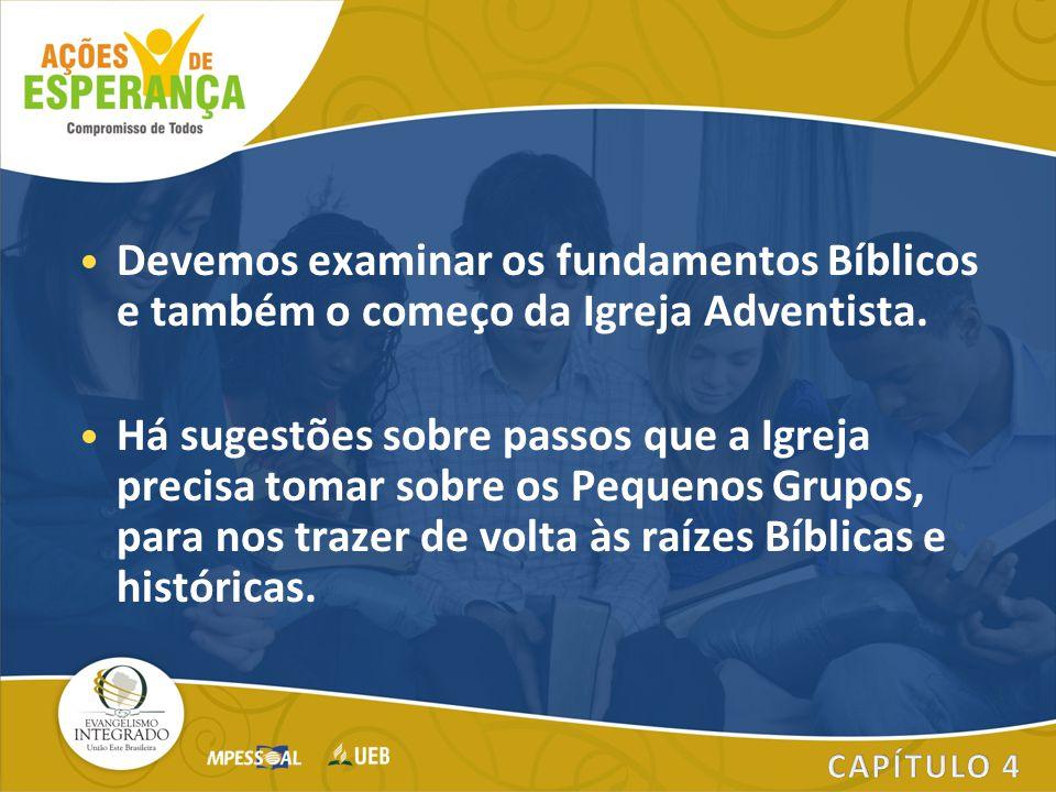 Devemos examinar os fundamentos Bíblicos e também o começo da Igreja Adventista. Há sugestões sobre passos que a Igreja precisa tomar sobre os Pequeno
