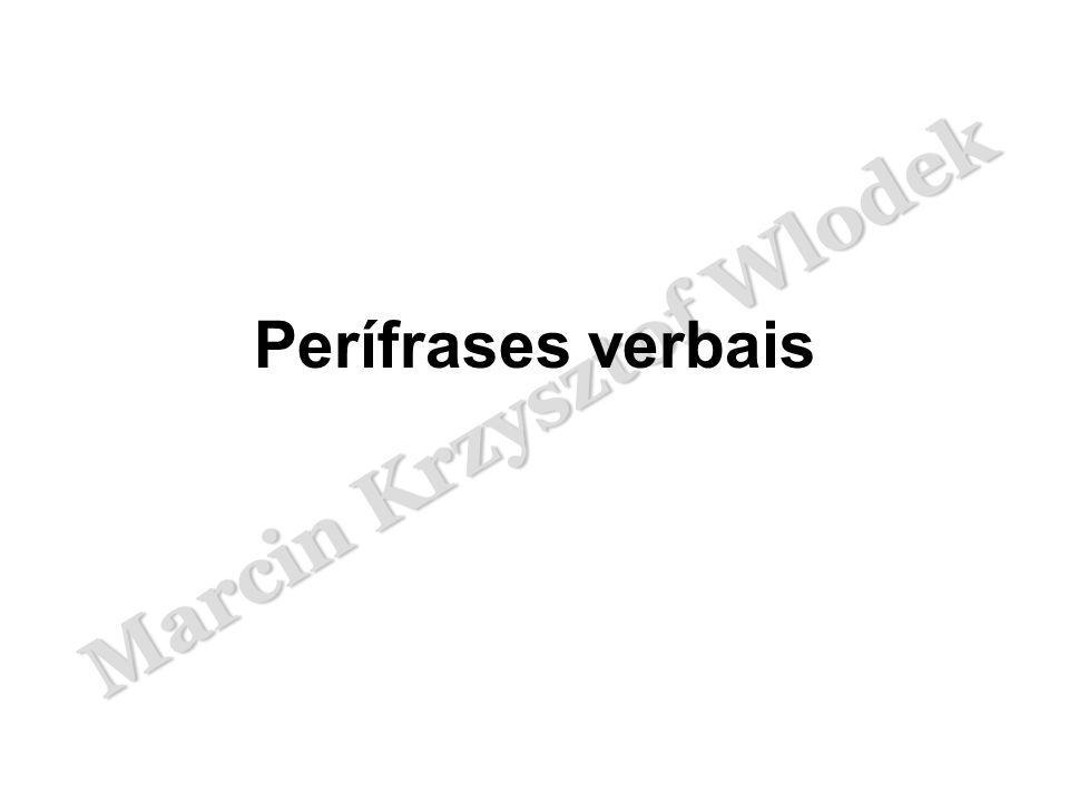 Marcin Krzysztof Wlodek Perífrases verbais