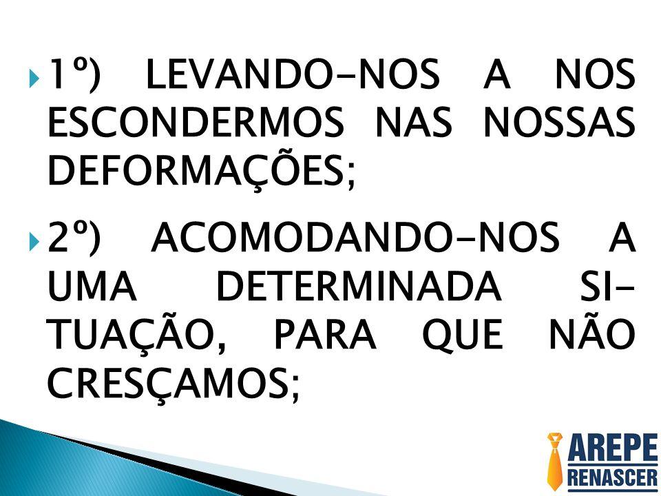  3º) ROUBANDO NOSSA MO- TIVAÇÃO, EMPENHO E A NOSSA FORÇA DE TRA- BALHO;  4º) TRAZENDO O ESPÍRITO DE CONFUSÃO.