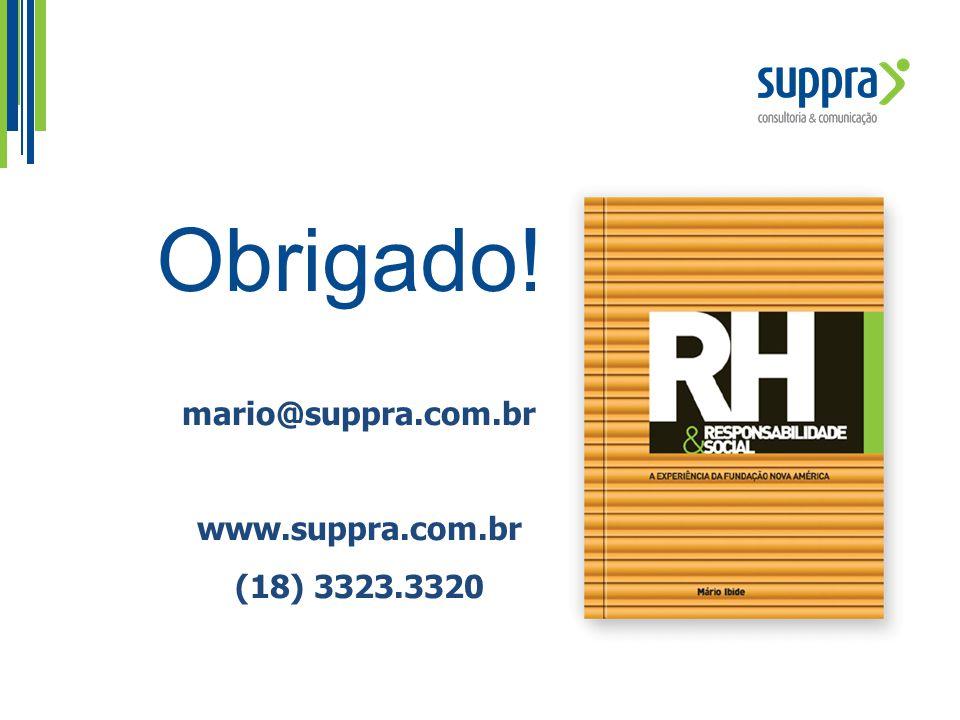 mario@suppra.com.br www.suppra.com.br (18) 3323.3320 Obrigado!