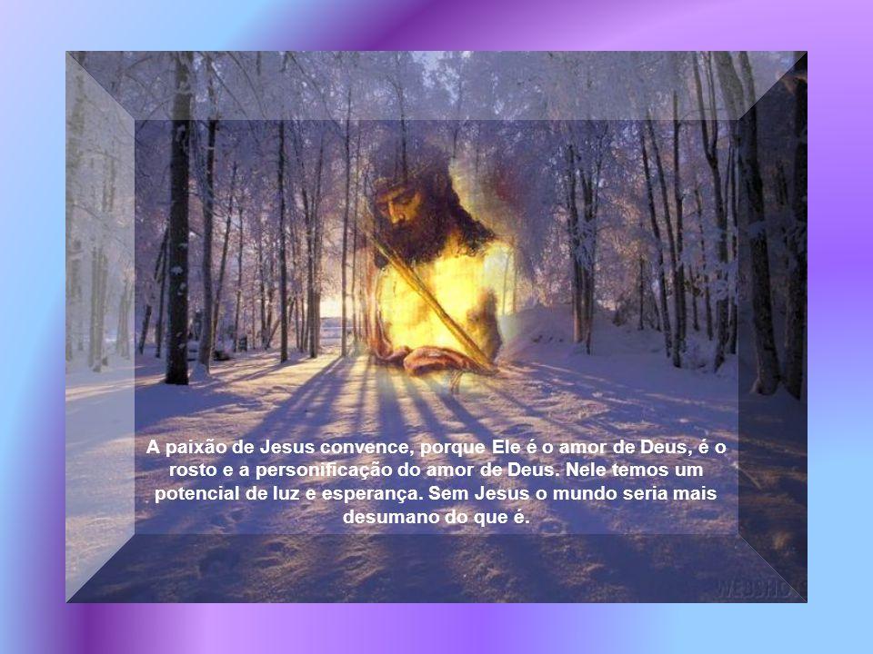 A paixão de Jesus convence, porque Ele é o amor de Deus, é o rosto e a personificação do amor de Deus.