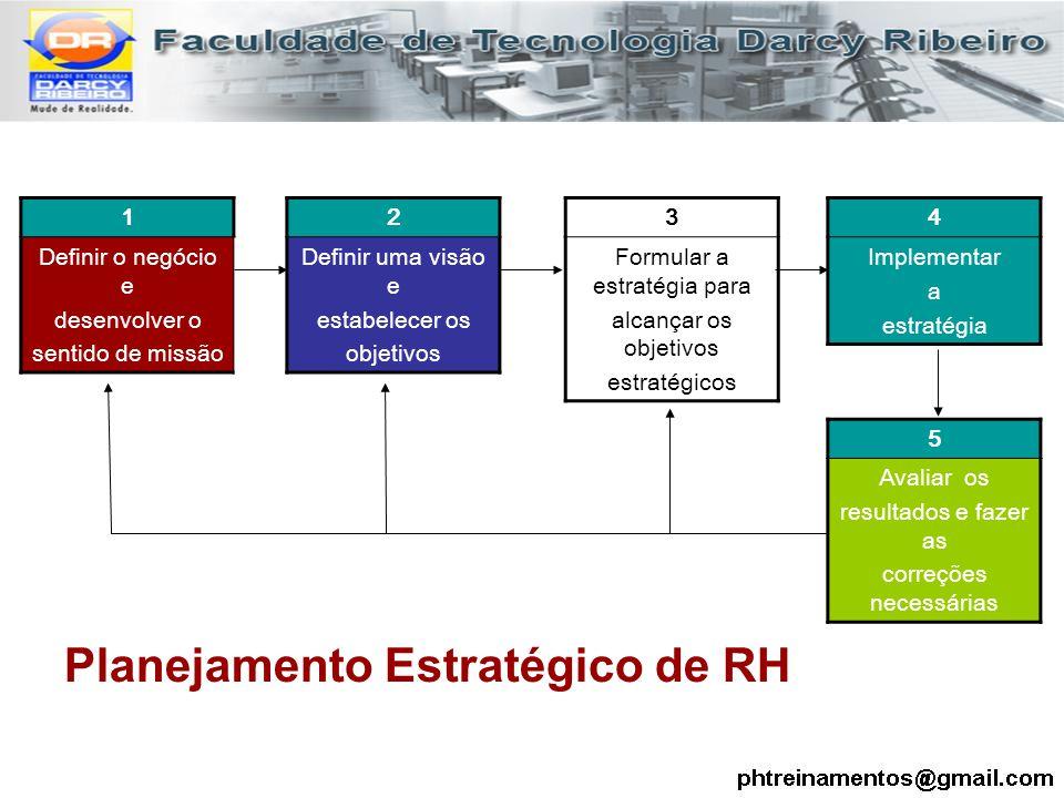 1 Definir o negócio e desenvolver o sentido de missão 2 Definir uma visão e estabelecer os objetivos 3 Formular a estratégia para alcançar os objetivo