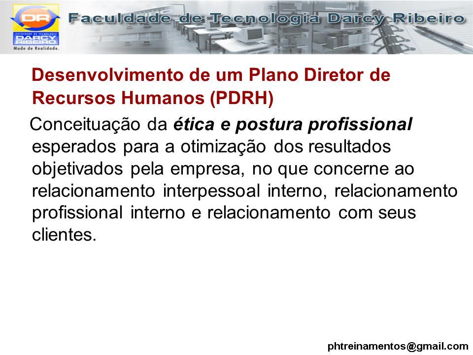 Desenvolvimento de um Plano Diretor de Recursos Humanos (PDRH) Conceituação da ética e postura profissional esperados para a otimização dos resultados