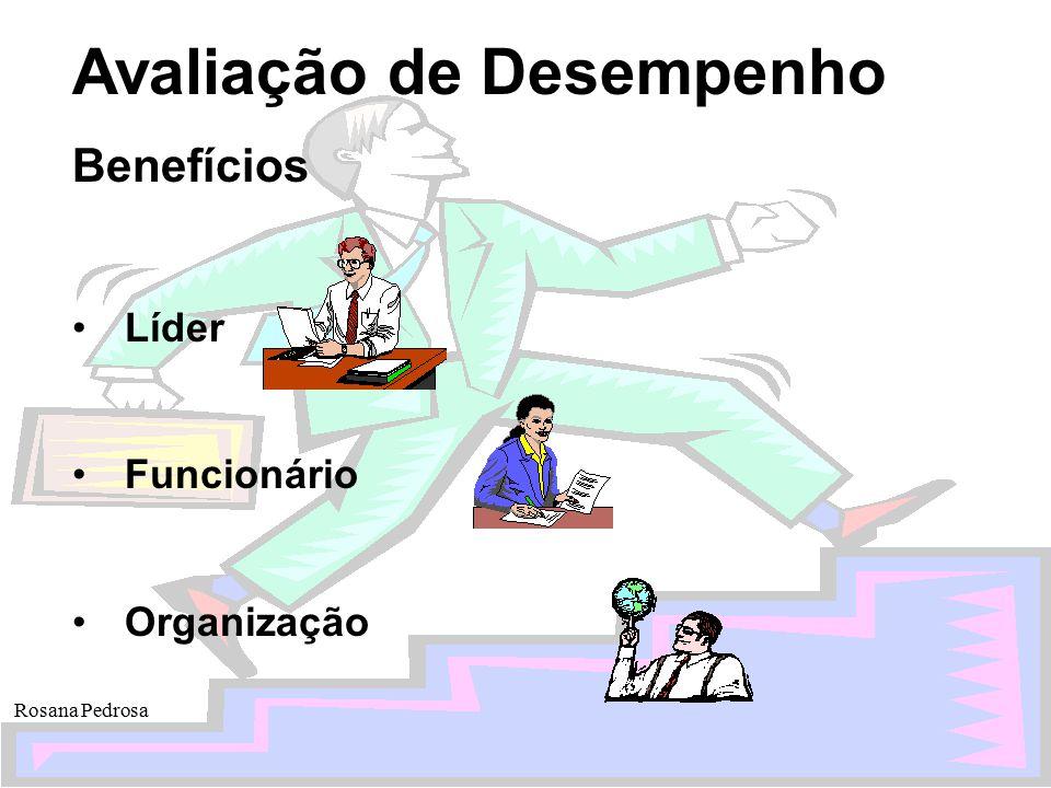 Avaliação de Desempenho Rosana Pedrosa Benefícios Líder Funcionário Organização