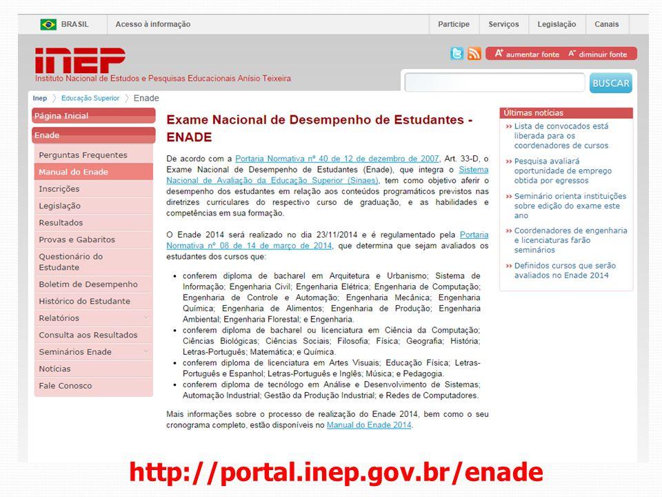 http://portal.inep.gov.br/enade