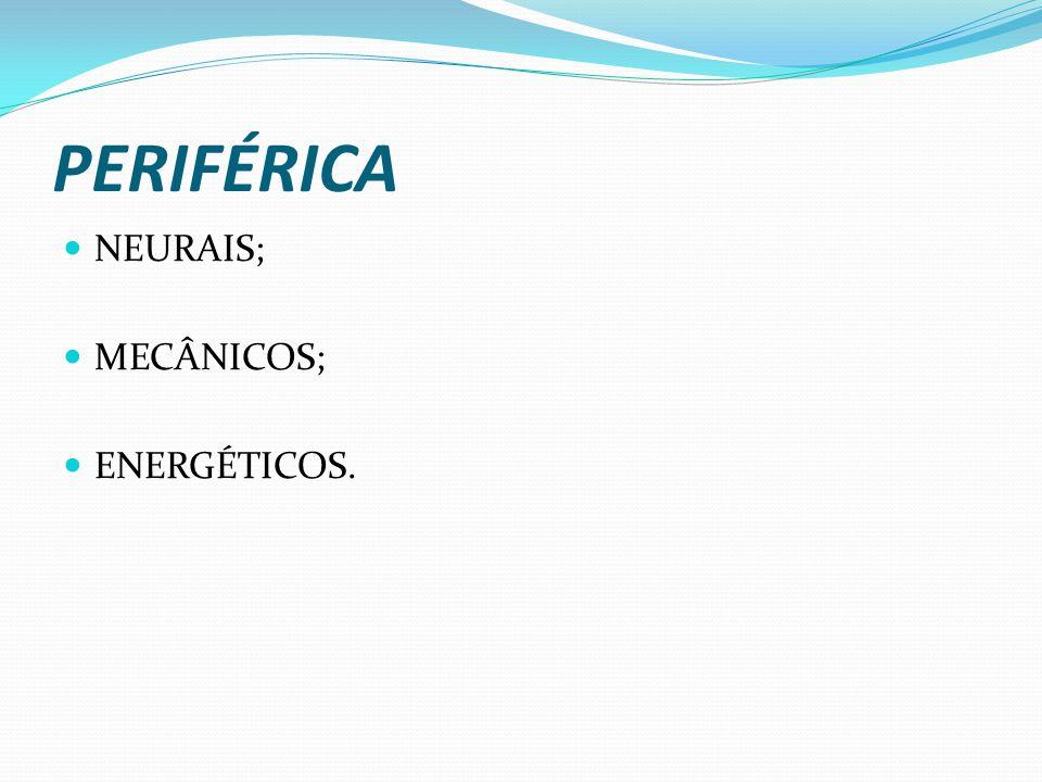 PERIFÉRICA NEURAIS; MECÂNICOS; ENERGÉTICOS.
