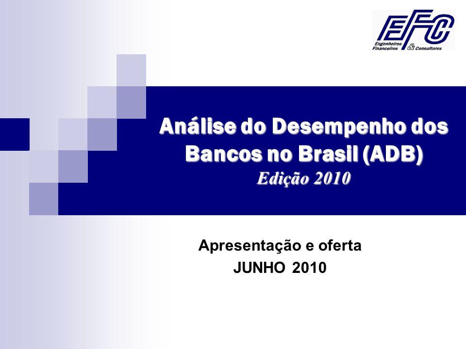 Análise do Desempenho dos Bancos no Brasil (ADB) Edição 2010 Apresentação e oferta JUNHO 2010