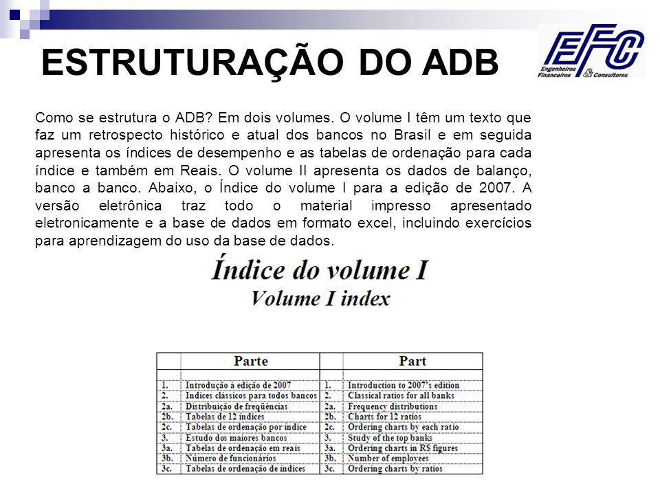 Visite nosso site www.efc.com.br Como se estrutura o ADB.