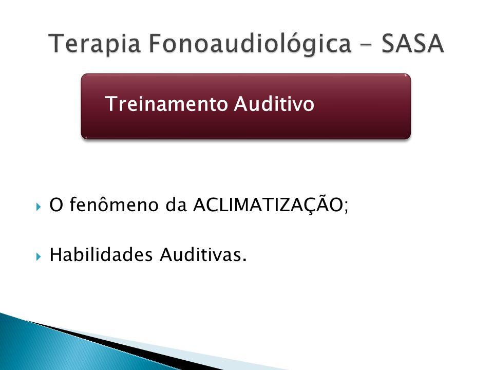  O fenômeno da ACLIMATIZAÇÃO;  Habilidades Auditivas. Treinamento Auditivo