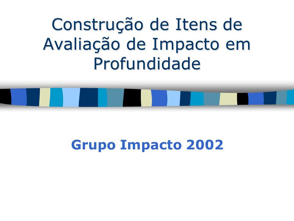 Construção de Itens de Avaliação de Impacto em Profundidade Grupo Impacto 2002