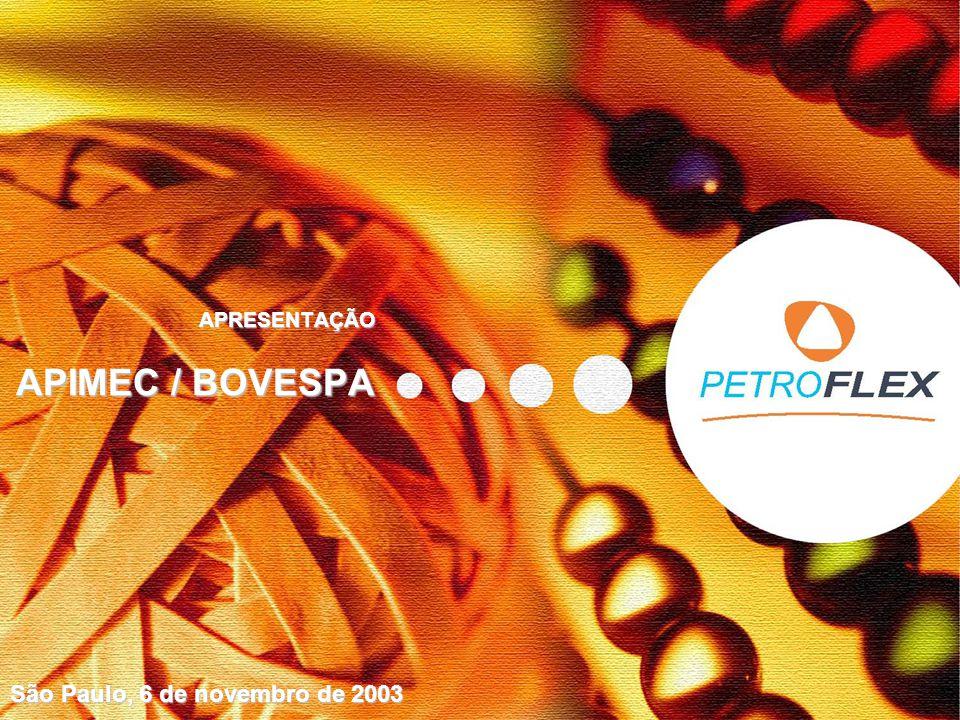 APRESENTAÇÃO APIMEC / BOVESPA São Paulo, 6 de novembro de 2003