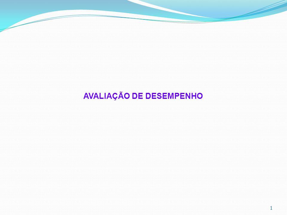 1 AVALIAÇÃO DE DESEMPENHO