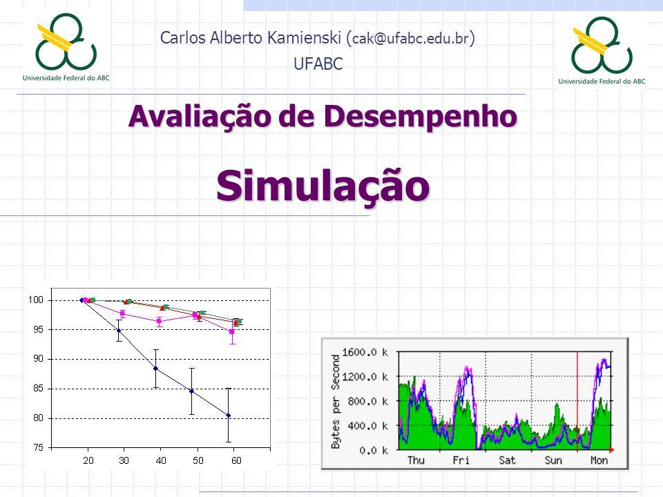 Avaliação de Desempenho Simulação Carlos Alberto Kamienski ( cak@ufabc.edu.br ) UFABC
