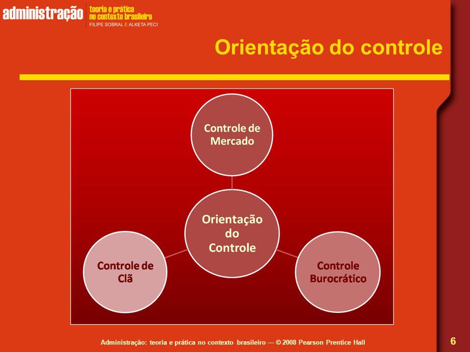 Administração: teoria e prática no contexto brasileiro — © 2008 Pearson Prentice Hall Orientação do controle 6