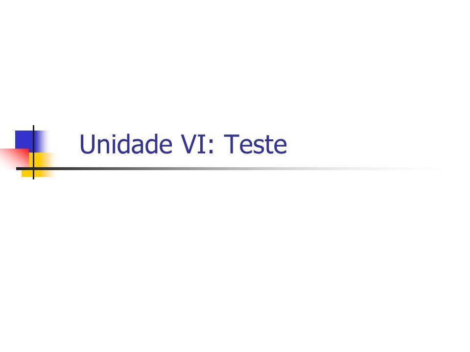 Unidade VI: Teste
