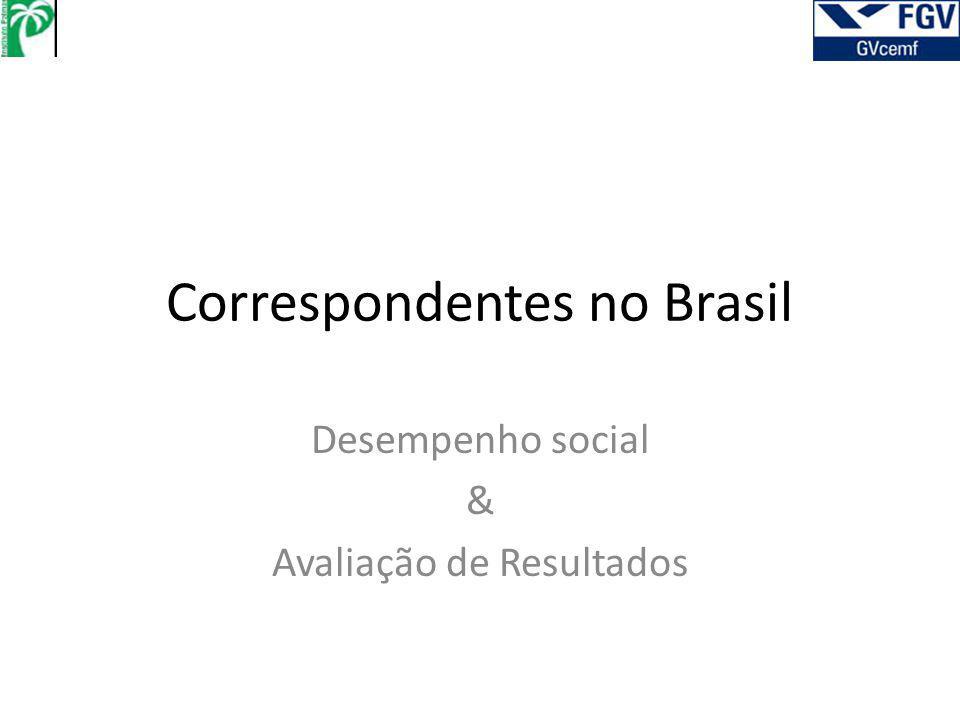Correspondentes no Brasil Desempenho social & Avaliação de Resultados