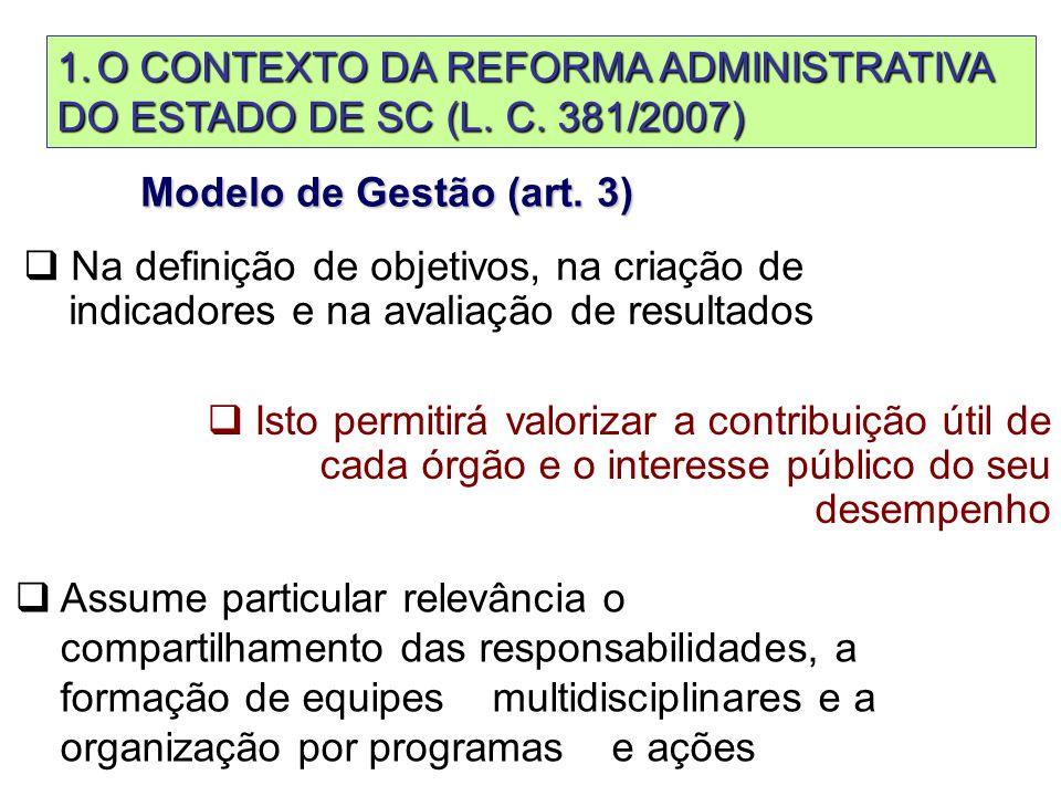 Modelo de Gestão (art.