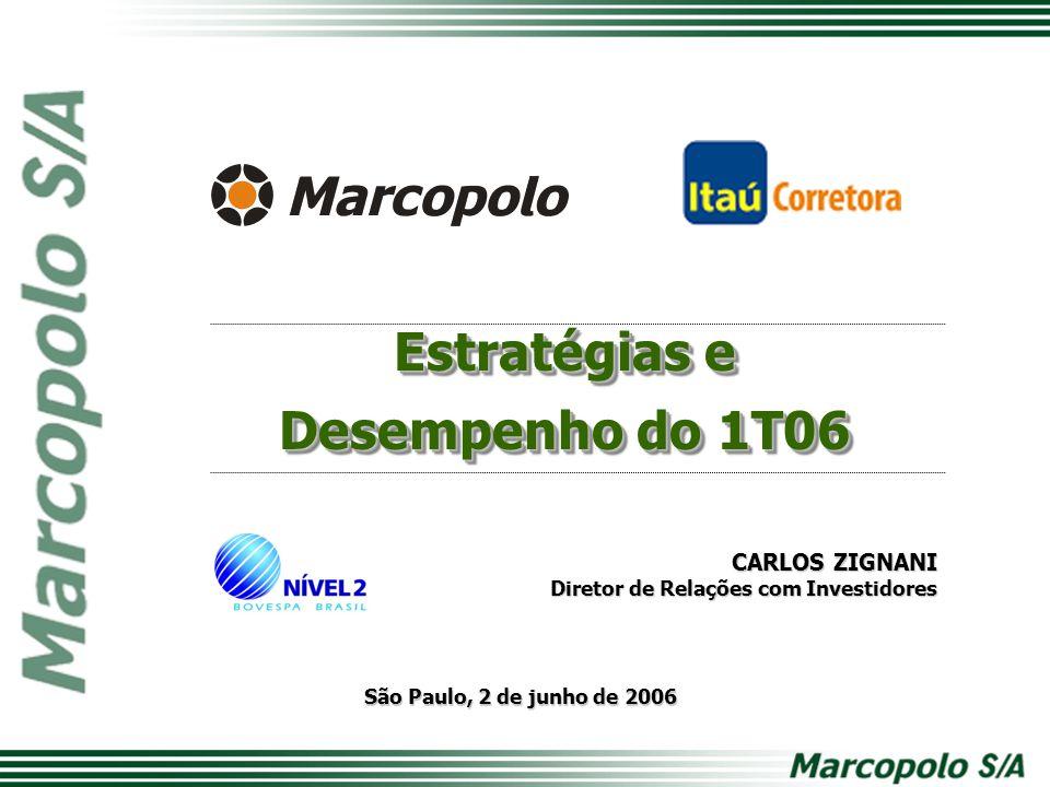 São Paulo, 2 de junho de 2006 CARLOS ZIGNANI Diretor de Relações com Investidores Estratégias e Desempenho do 1T06 Estratégias e Desempenho do 1T06