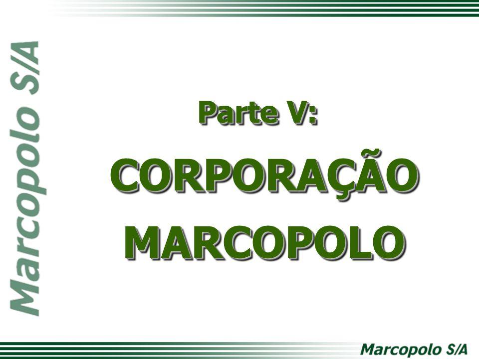 Parte V: CORPORAÇÃOMARCOPOLO CORPORAÇÃOMARCOPOLO
