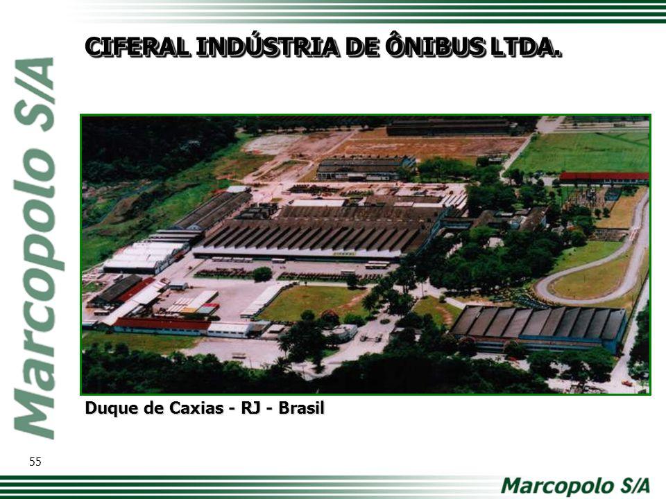 CIFERAL INDÚSTRIA DE ÔNIBUS LTDA. Duque de Caxias - RJ - Brasil 55