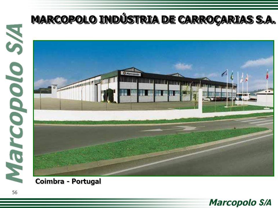 MARCOPOLO INDÚSTRIA DE CARROÇARIAS S.A. Coimbra - Portugal 56