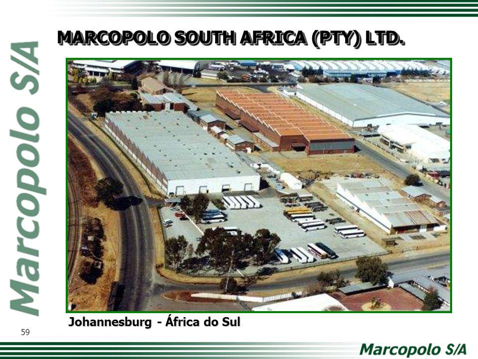 Johannesburg - África do Sul MARCOPOLO SOUTH AFRICA (PTY) LTD. 59