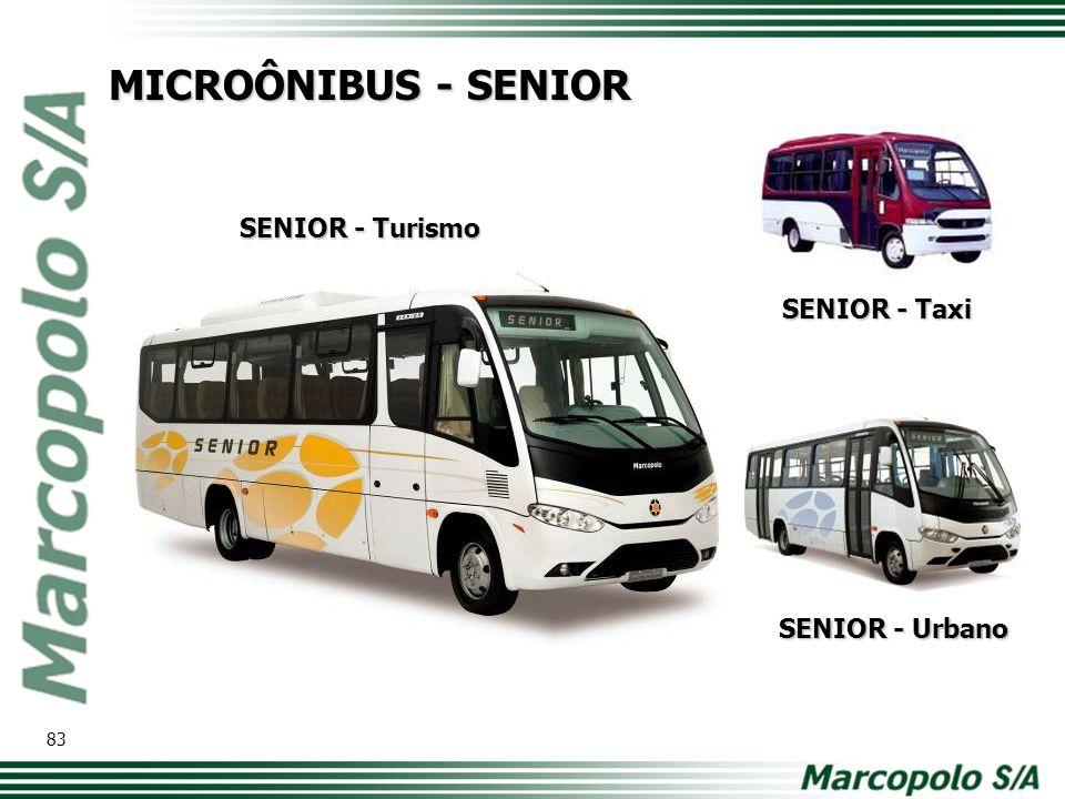 MICROÔNIBUS - SENIOR SENIOR - Turismo SENIOR - Urbano SENIOR - Taxi 83