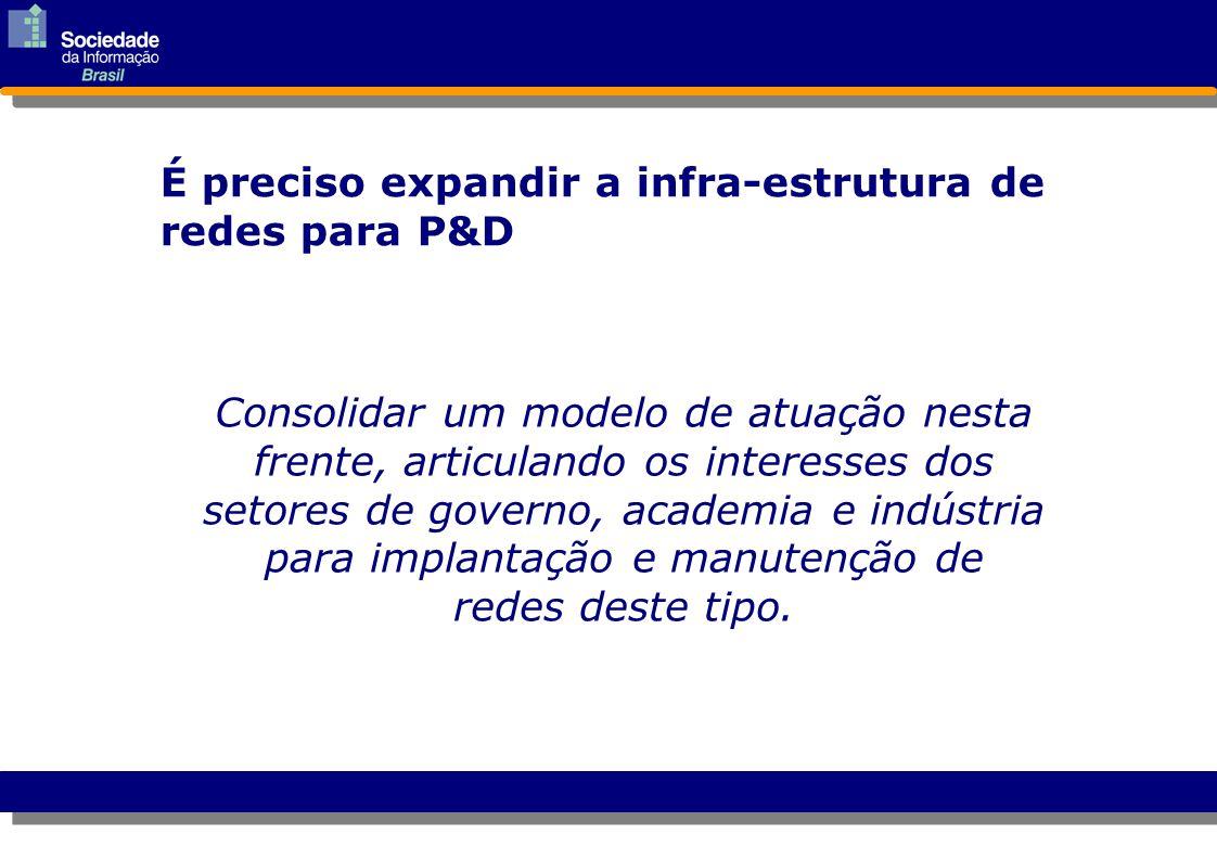 Consolidar um modelo de atuação nesta frente, articulando os interesses dos setores de governo, academia e indústria para implantação e manutenção de