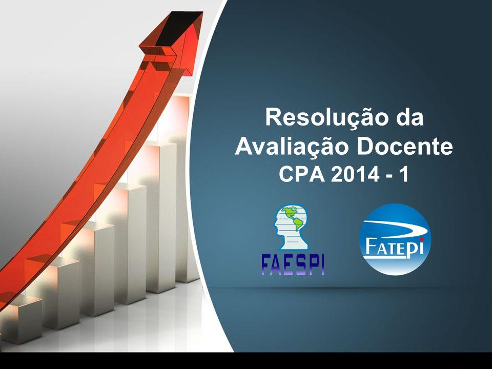 Resolução da Avaliação Docente CPA 2014 - 1