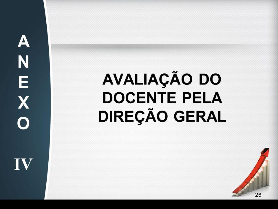 26 AVALIAÇÃO DO DOCENTE PELA DIREÇÃO GERAL AN EX O IV