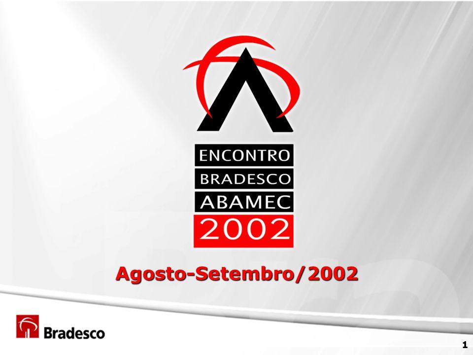 2 Agenda ABAMEC Bradesco 2001 Desempenho dos Períodos Principais Eventos Vantagens Competitivas Aspectos e Características de Gerenciamento Perspectivas