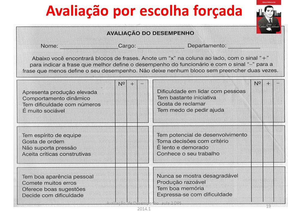 Avaliação por escolha forçada 19 Avaliação de Desempenho aula 2 DPS 2014.1