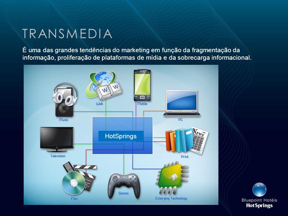 TRANSMEDIA É uma das grandes tendências do marketing em função da fragmentação da informação, proliferação de plataformas de mídia e da sobrecarga informacional.
