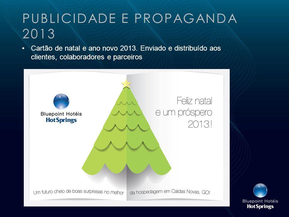 PUBLICIDADE E PROPAGANDA 2013 Cartão de natal e ano novo 2013.