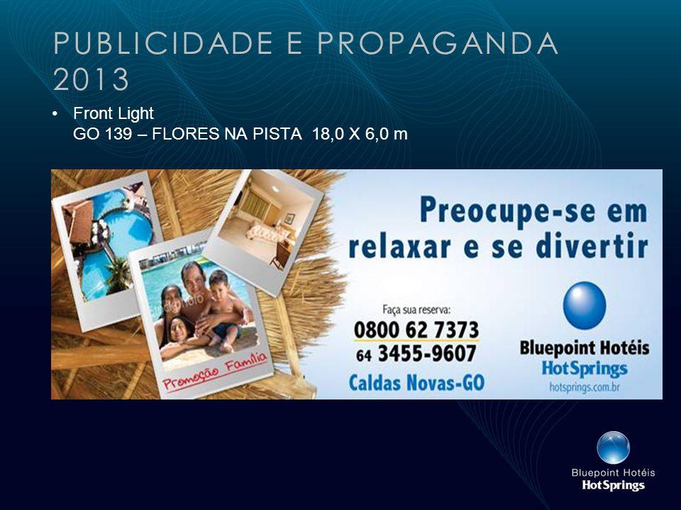 PUBLICIDADE E PROPAGANDA 2013 Front Light GO 139 – FLORES NA PISTA 18,0 X 6,0 m