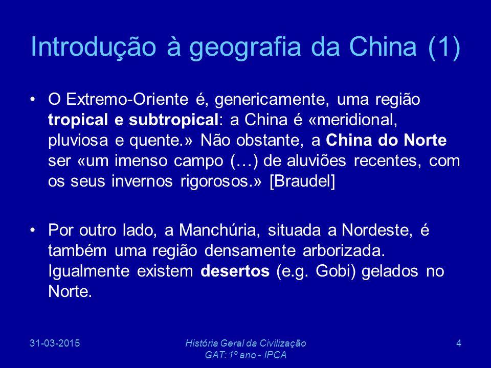 31-03-2015História Geral da Civilização GAT: 1º ano - IPCA 5 Precipitação na China (1983) Fonte: https://www.lib.utexas.edu/maps/china.html