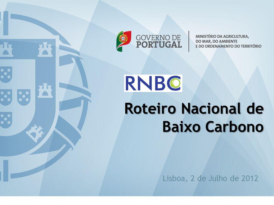 eabilitação 18 Lisboa, 2 de Julho de 2012 Roteiro Nacional de Baixo Carbono