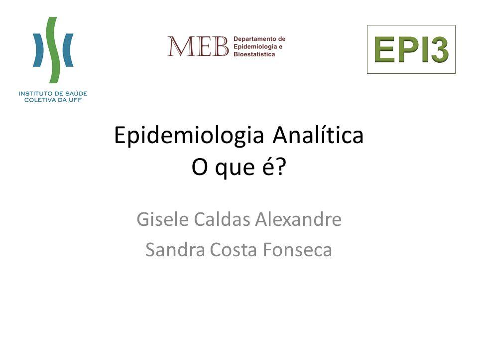 Epidemiologia Analítica O que é? Gisele Caldas Alexandre Sandra Costa Fonseca