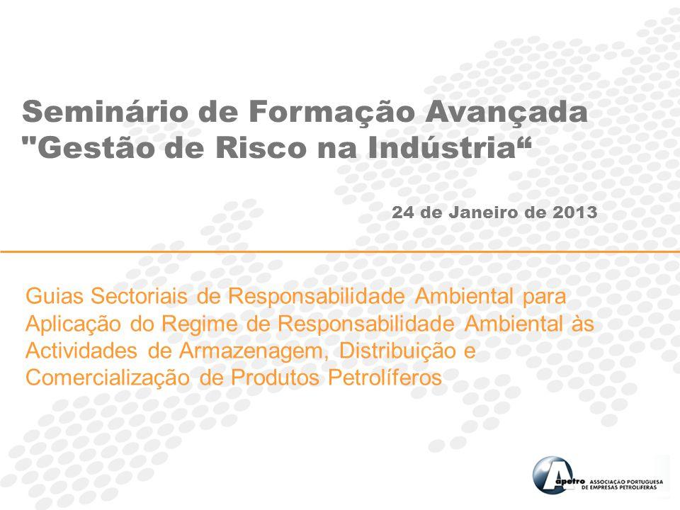 Guias Sectoriais de Responsabilidade Ambiental para Aplicação do Regime de Responsabilidade Ambiental às Actividades de Armazenagem, Distribuição e Co