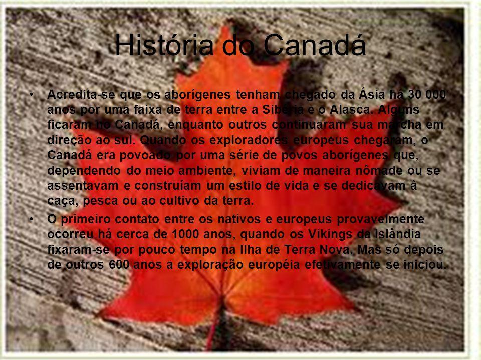 Localização do Canadá Localiza-se no norte da América do Norte.